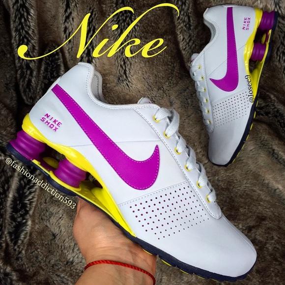 timeless design ee100 25c33 Nike Shox Women s Gray purple yellow shoes sneaker